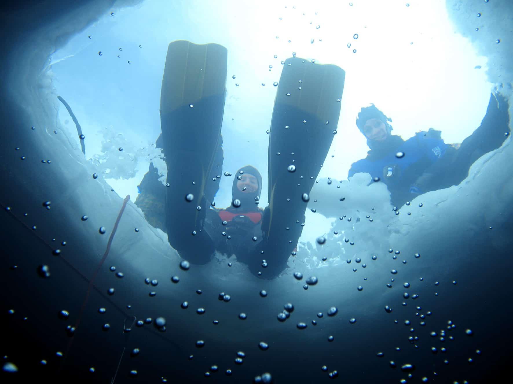 Plongée sous glace à Tignes Le Lac