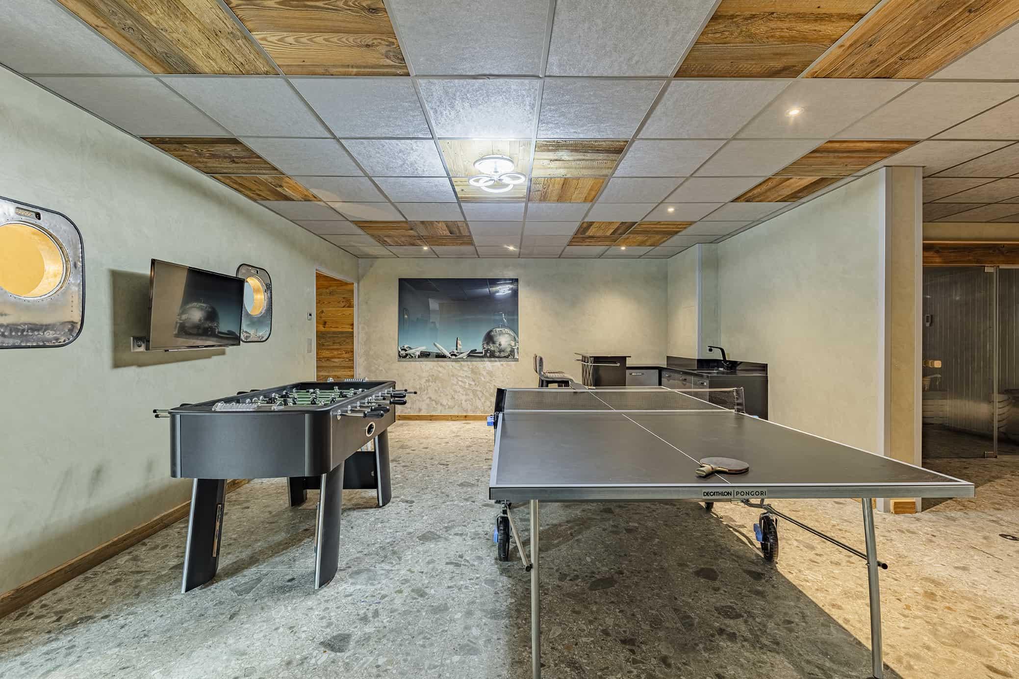 Chalet de luxe avec table de ping pong et babyfoot à Tignes