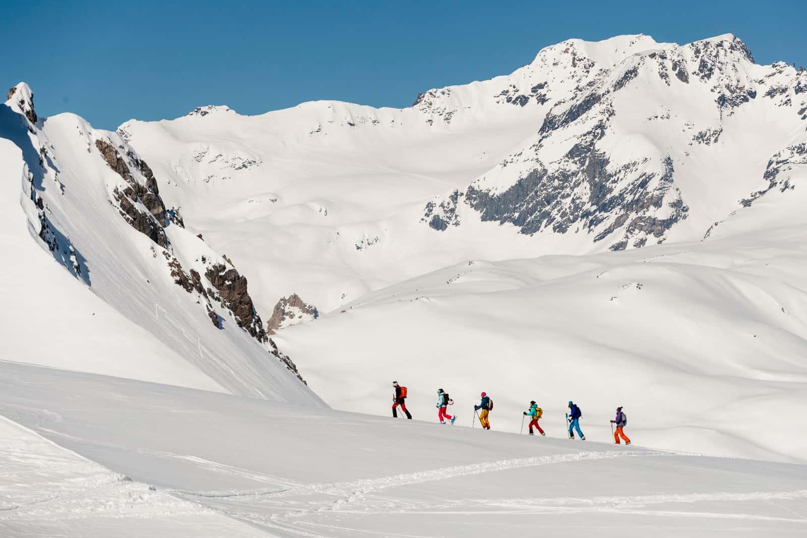 Le ski de randonnée à Tignes sans remontées mécaniques