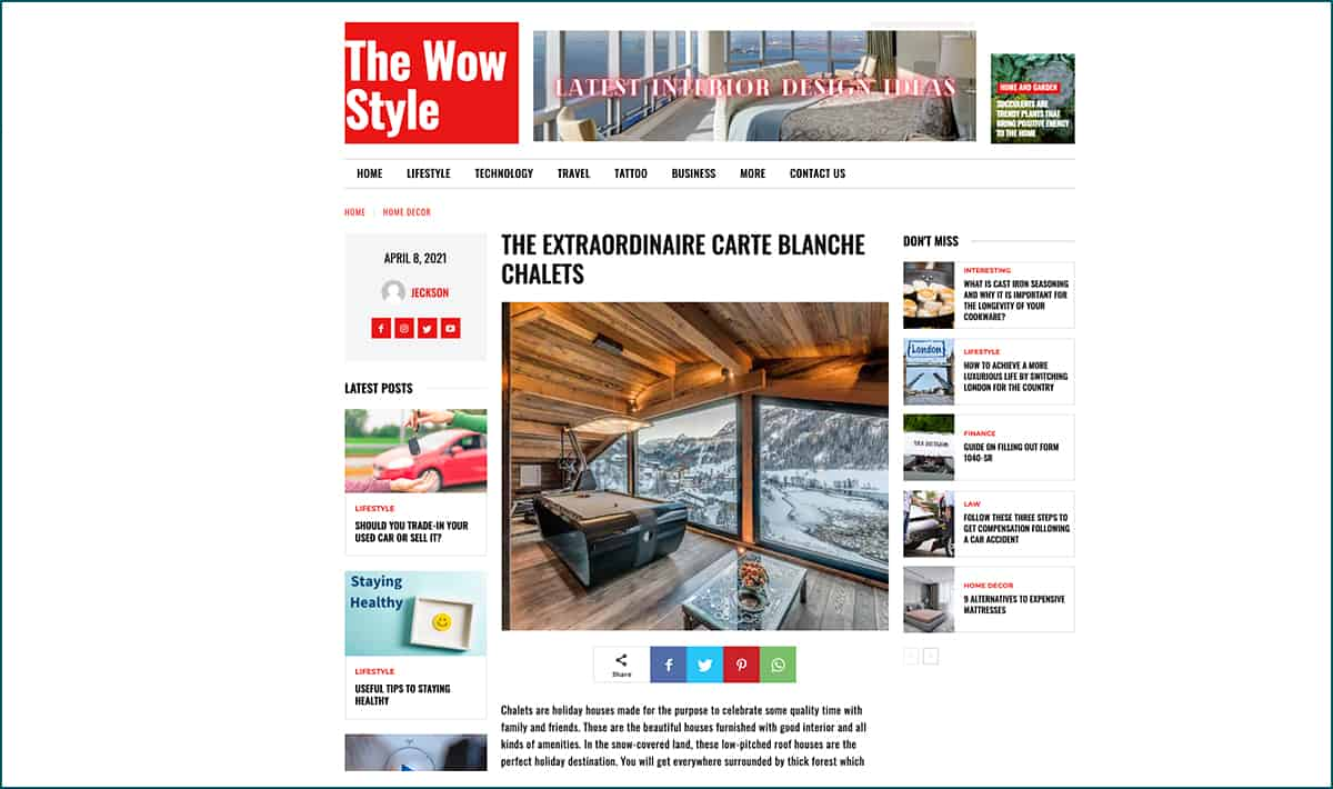 Parution carte-blanche.com The Wow Style